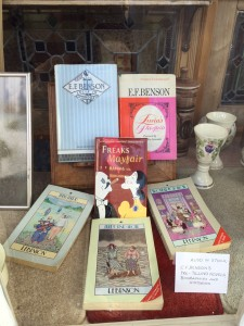 Benson's books on sale at the bookshop in Rye