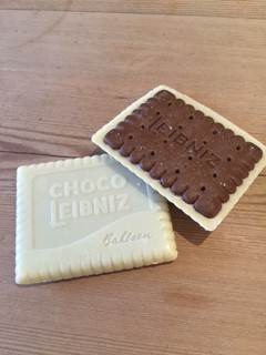 The white chocolate/cocoa Choco Leibniz - like an Oreo, but classy