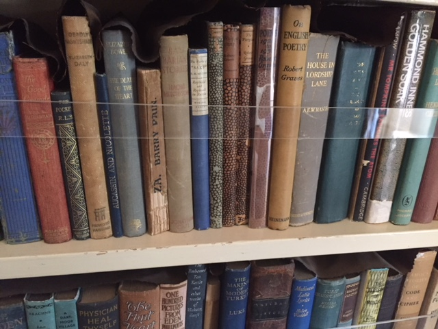Dame Agatha Christie's bookshelves