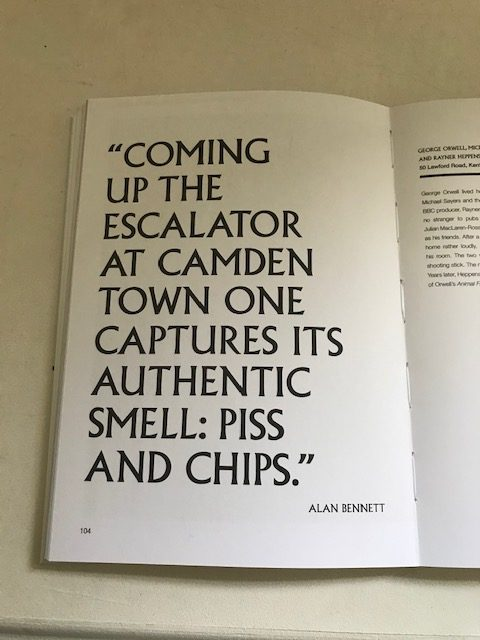 Alan Bennett quote Writers' London